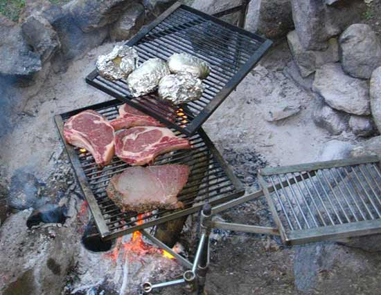 The Stake Fire Grill For Outdoor Camping Cooking